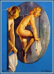 nude pinup girl poster